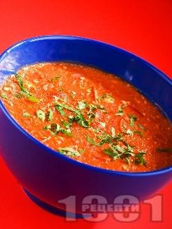 Доматена супа със сирене и ориз - снимка на рецептата